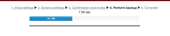 Image of backup progress bar