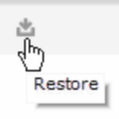 An image of the Restore option.