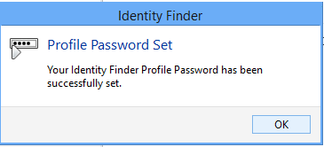 This confirms the profile password has been set.