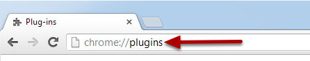 An image with an arrow pointing to plugins.