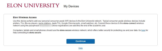 An image of the elonu-connect disclaimer.