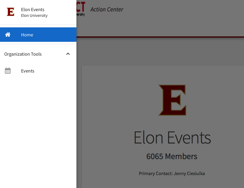 """This is an image showing where to find the """"Events""""."""