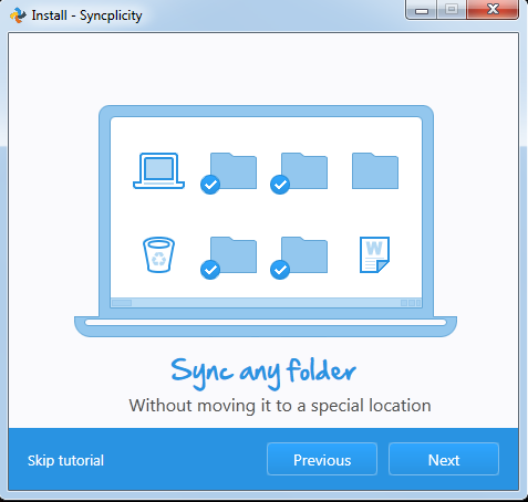 This image shows that you can sync any folderw ithout moving it to a different location.