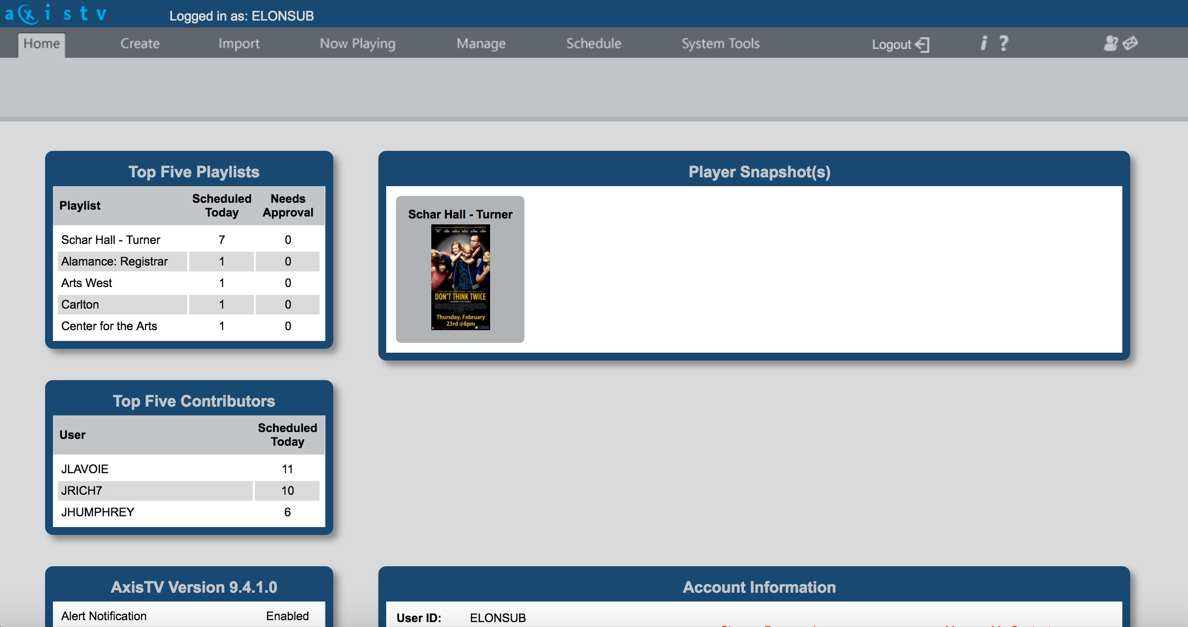 A picture of the visix application homepage.