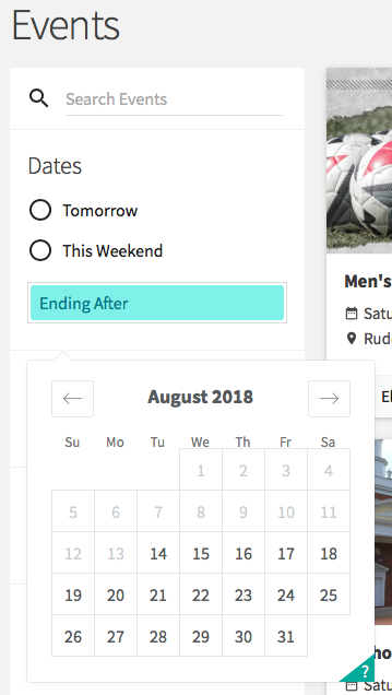 This is an image of how to select a date on the calendar to view events.