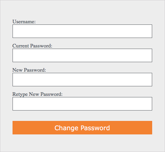 This image shows you the form to fill out to change your password