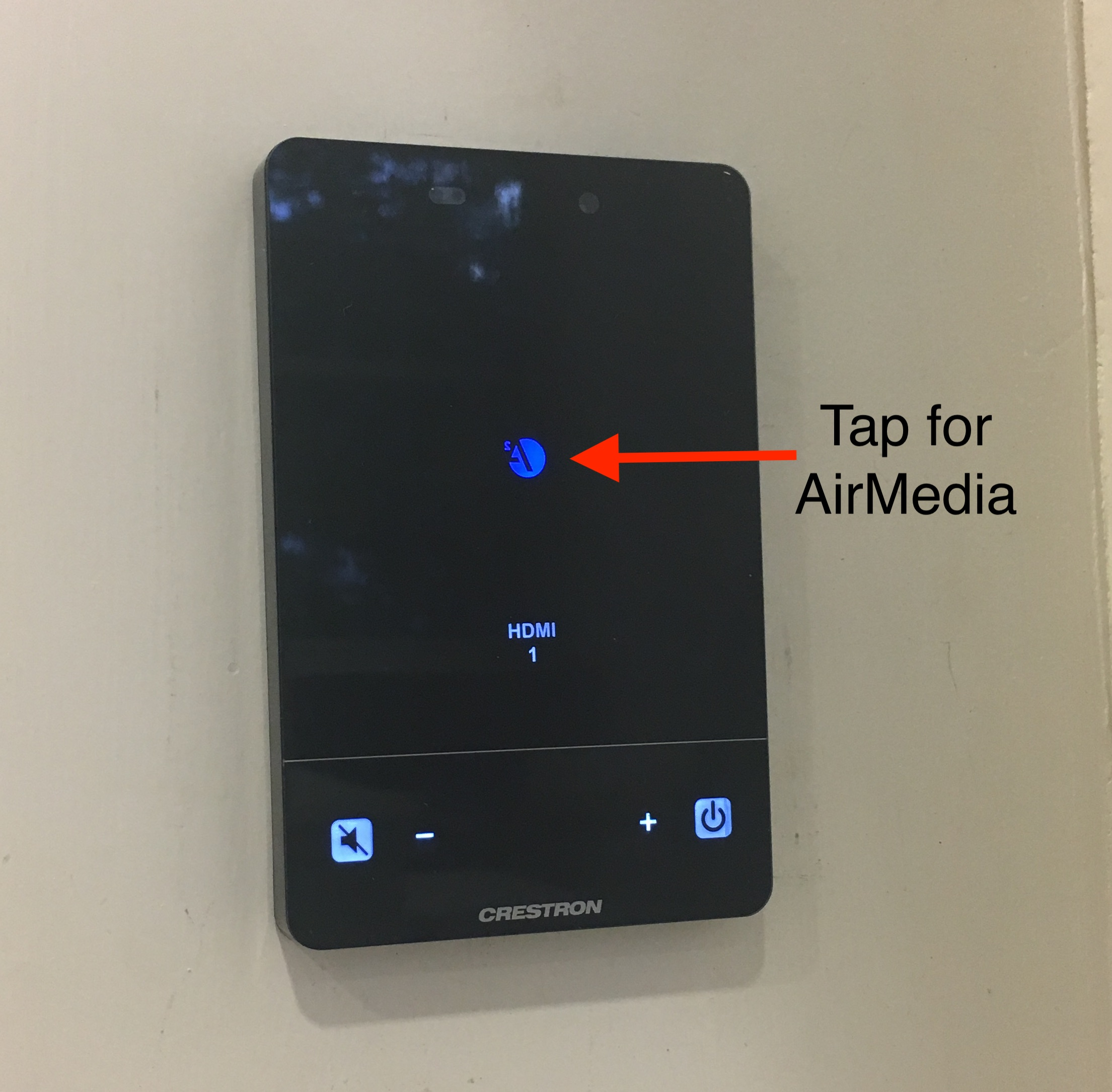 Picture of what to press on controller for AirMedia.