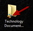 This image shows the syncplicity icon on the folder you synced in step 1.