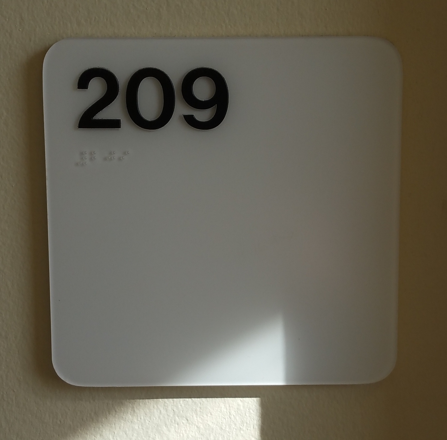 Photo of Carlton 209 room number