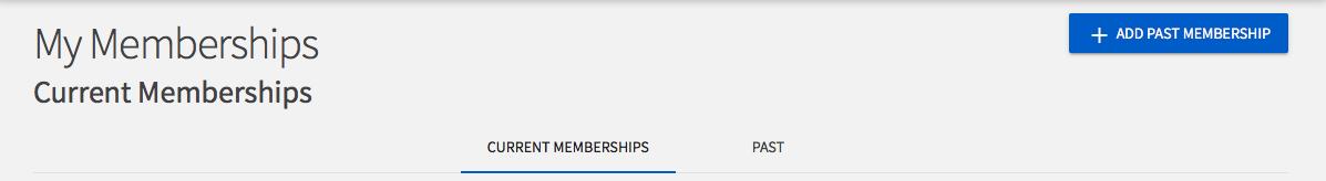 Image of My Memberships view.