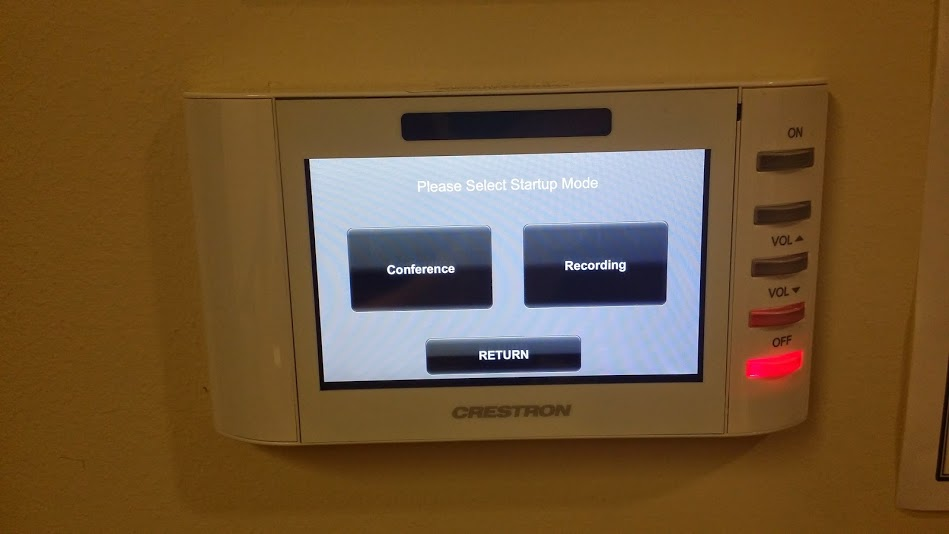A photo of the touchpanel control