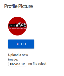 Image of how to upload a profile picture.