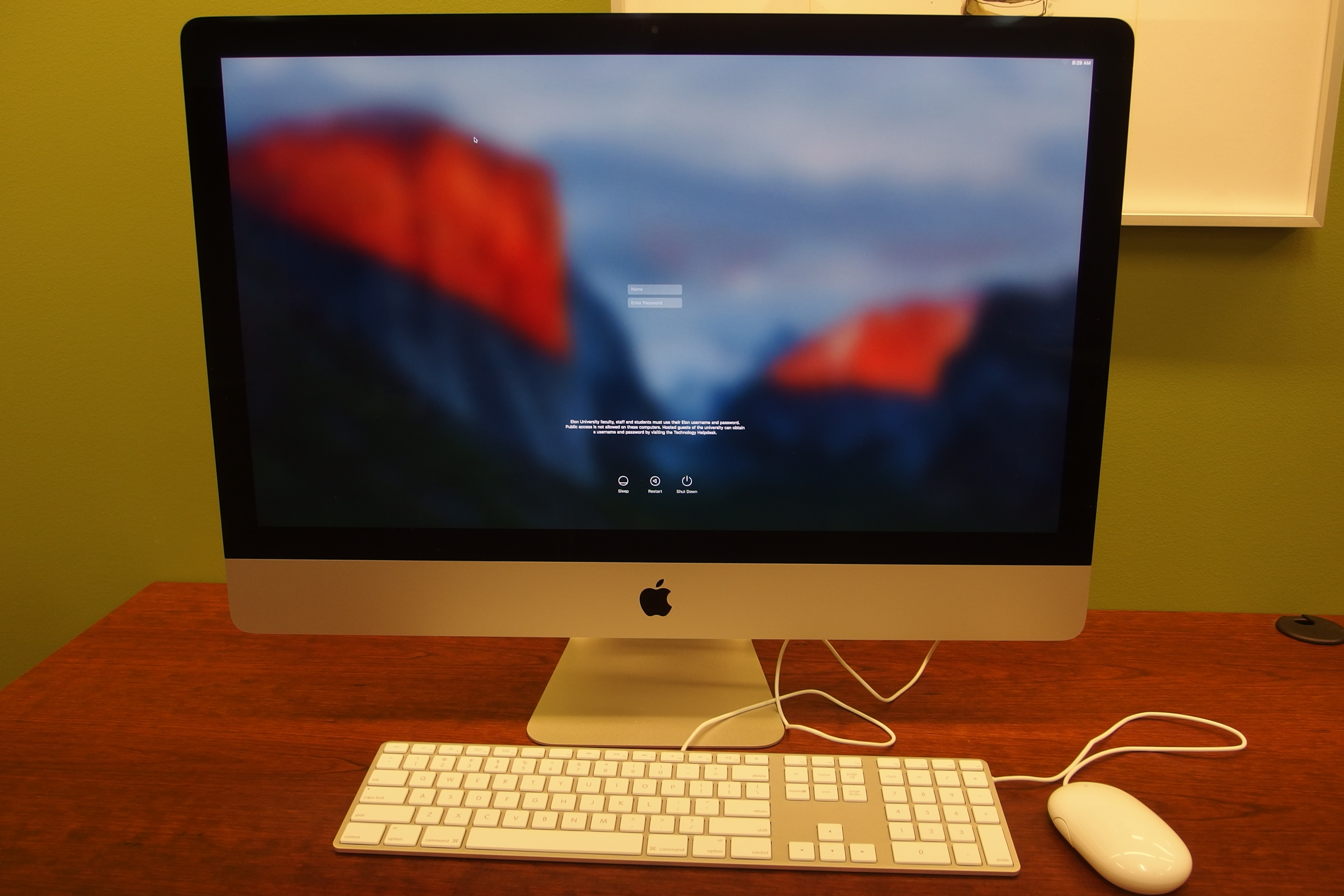 A photo of a Mac computer work station