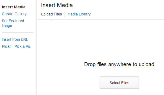 """Click """"Select Files"""" or drag the image onto the window"""