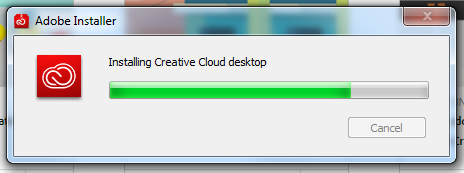 An image of the creative cloud installer.