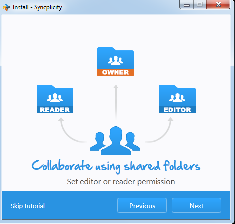 This image mentions that you can collaborate by using shared folders through the use of permissions.