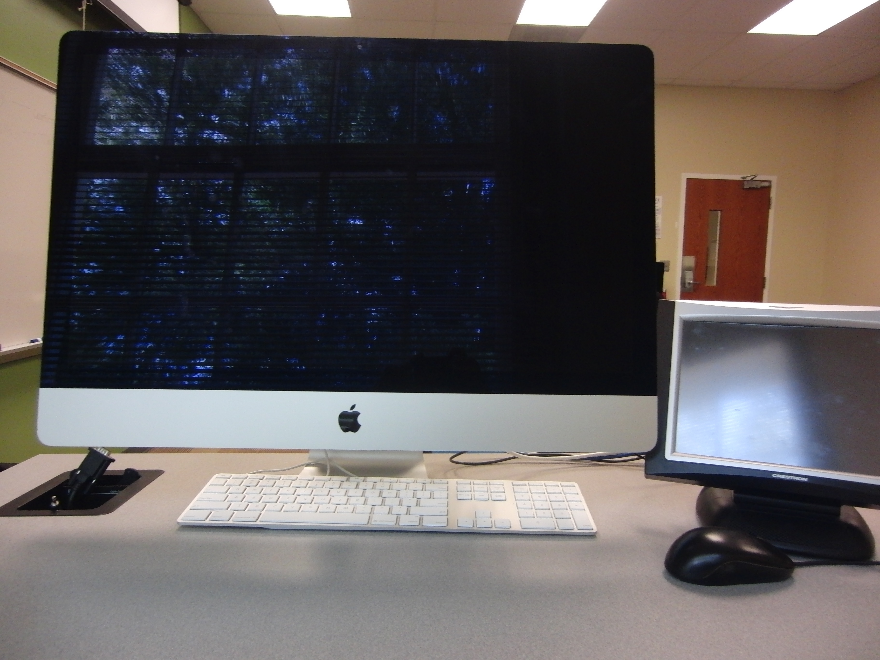 Photo of apple computer located at the instructor's station