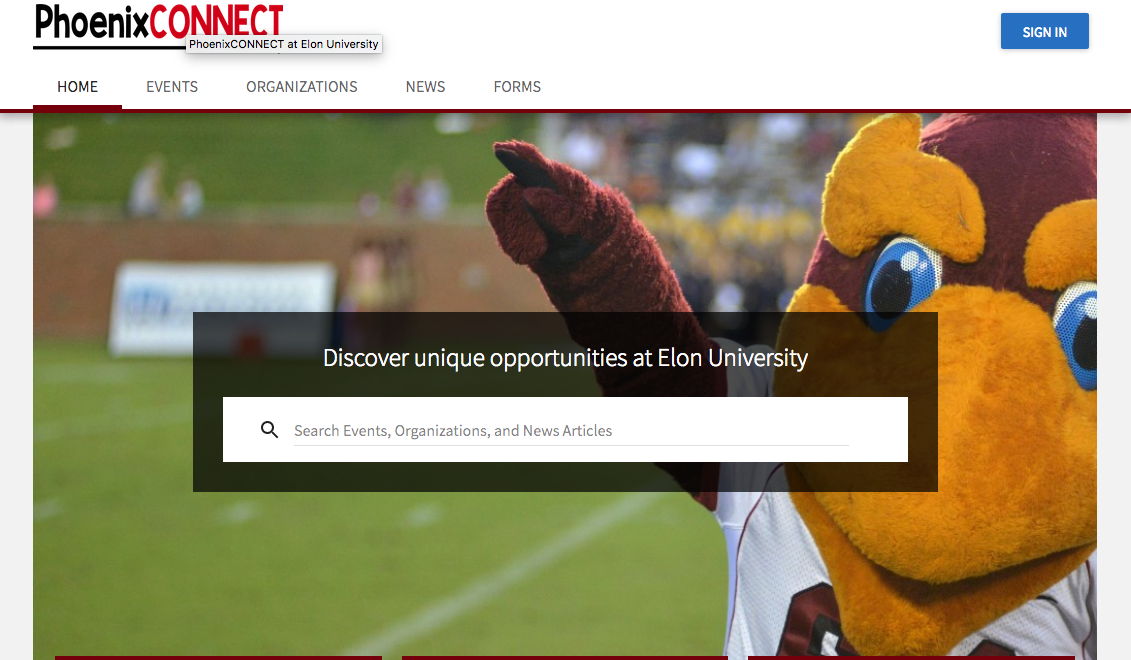 Image of PhoenixCONNECT homepage.