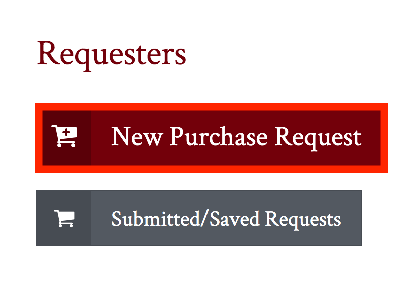 New purchase request button