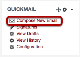 An image of the compose new email option circled.