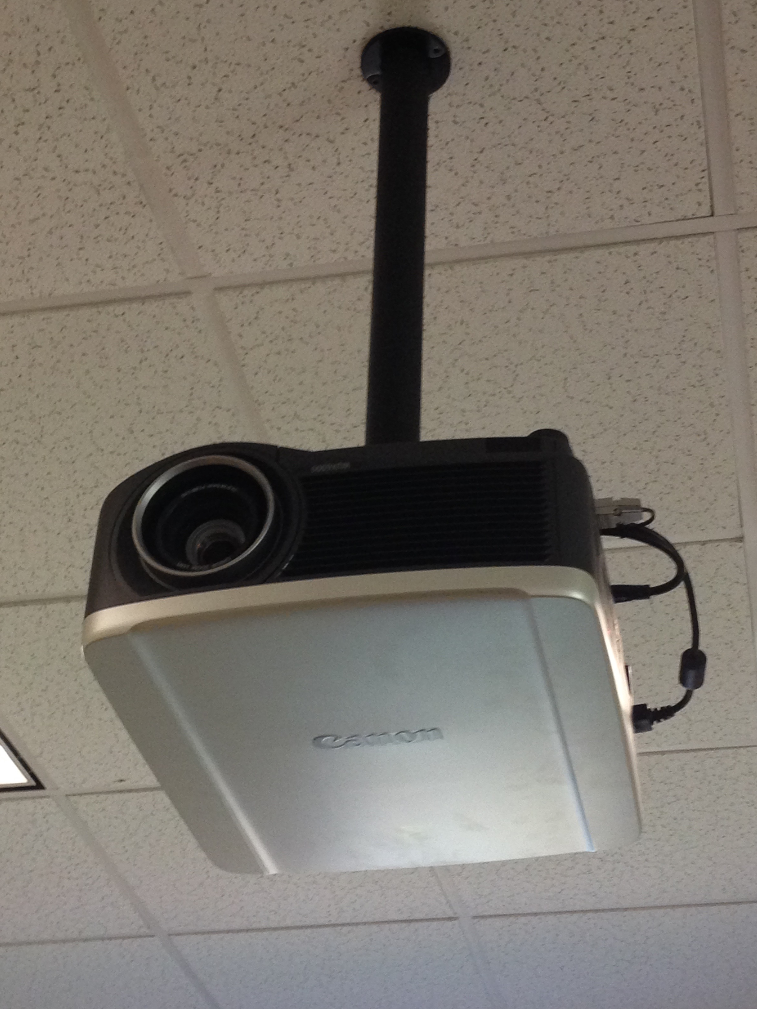 Photo of ceiling mounted projector