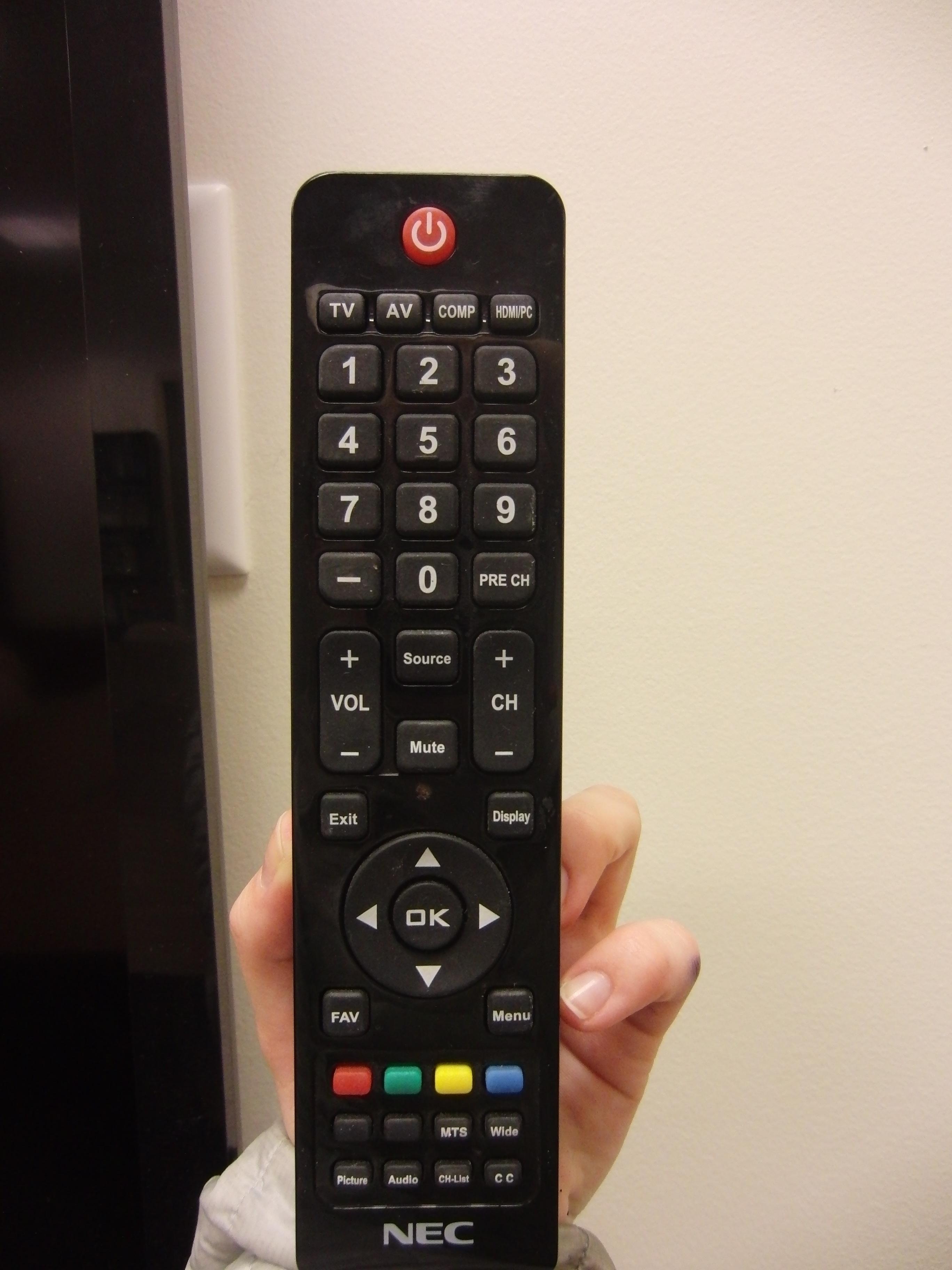 Photo of full NEC remote