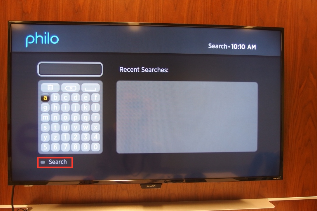 A photo of the LCD with the Philo search page