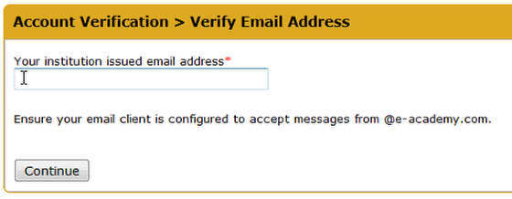 An image asking you to verify your Elon email address.
