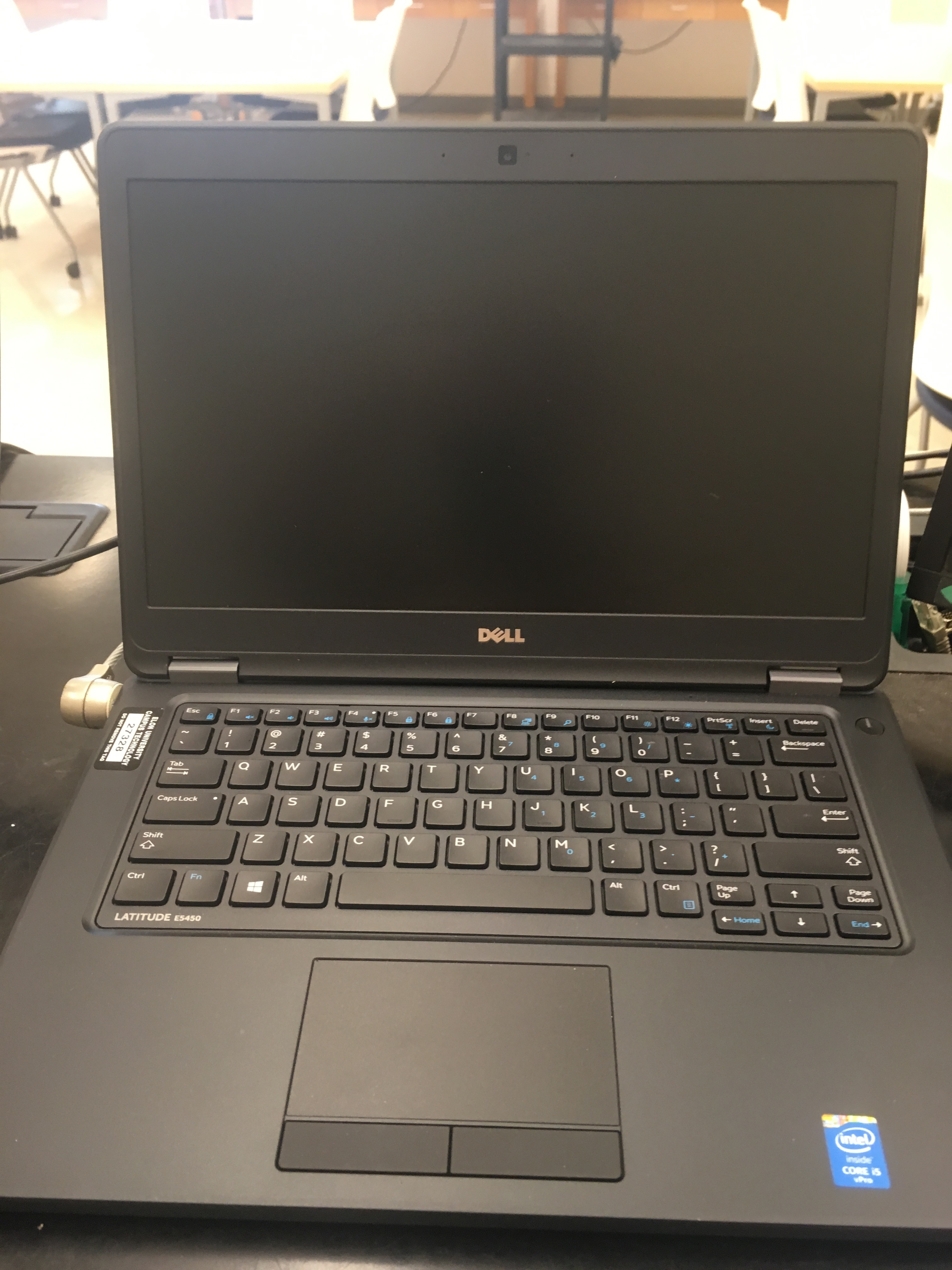Photo of the laptop available in the space
