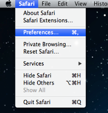 An image of the preferences location.