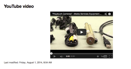 An example of an embedded YouTube video.
