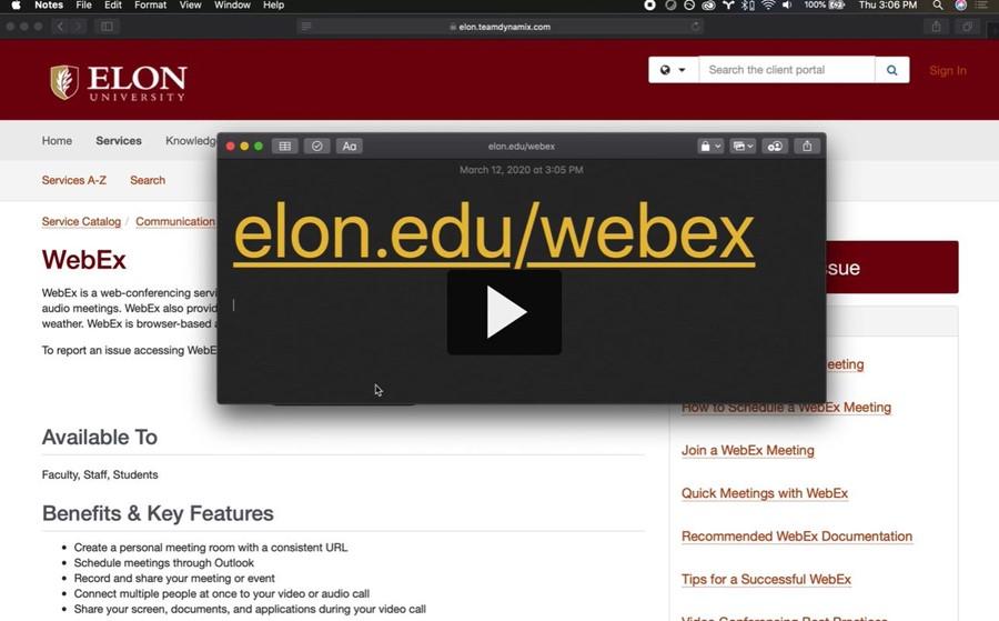 Picture of WebEx screenshot